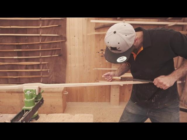 Bogenbau Anleitung für einen Flachbogen aus einem Hickory Kantholz – Tutorial zum Bogen selber bauen