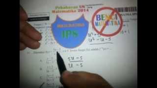 Fungsi Inverse-Pembahasan Soal UN Matematika IPS 2014 No.11
