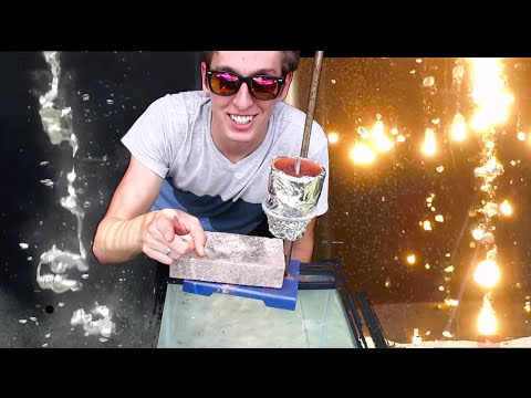 Pouring Molten Metals into Water. COOL!  (Aluminum, Thermite, Lead + More!)