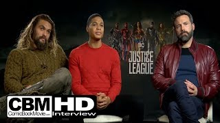 Justice League - Jason Momoa, Ray Fisher, Ben Affleck Interview - 2017 DC Movie, Warner Bros HD