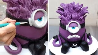Evil Despicable Me 3D Minion Cake - How to make by CakesStepbyStep