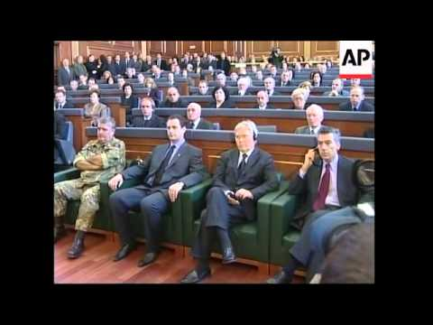 Kosovo lawmakers observe a minute of silence for Rugova