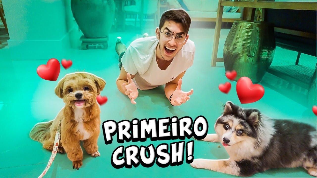 MINHA CACHORRINHA CONHECEU SEU PRIMEIRO CRUSH!!!