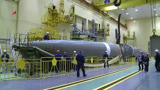 Подготовка к пуску ракеты-носителя «Союз 2.1а» с грузовым кораблём «Прогресс МС-08»
