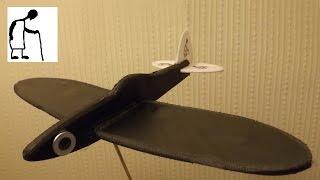 Polystyrene Pizza Tray Spitfire Glider