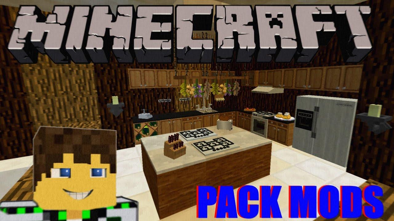 Minecraft Pack Mods Para Decoração 189  YouTube -> Decoracao De Banheiro No Minecraft