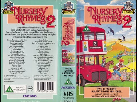 Nursery Rhymes 2 (1993 Reissue UK VHS)