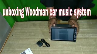 Car music system unboxing |hindi|,Woodman ,