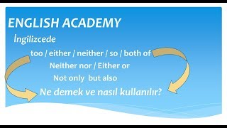 too/either/neither/so/both of/not only but also kullanımı too either neither so konu anlatımı