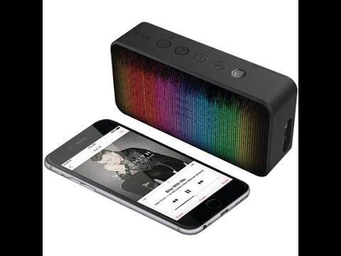 portable bluetooth speakers with lights. unboxing \u0026 tutorial: iluv aud mini 6 party- portable bluetooth speaker with led lights speakers r