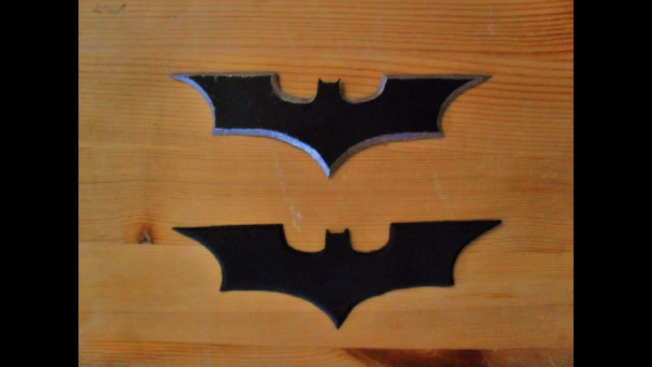 Making a Batarang Batman Begins Style (full metal, and fully ...