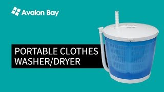 Portable Washer and Dryer | Avalon Bay EcoSpin (NEW 2018)