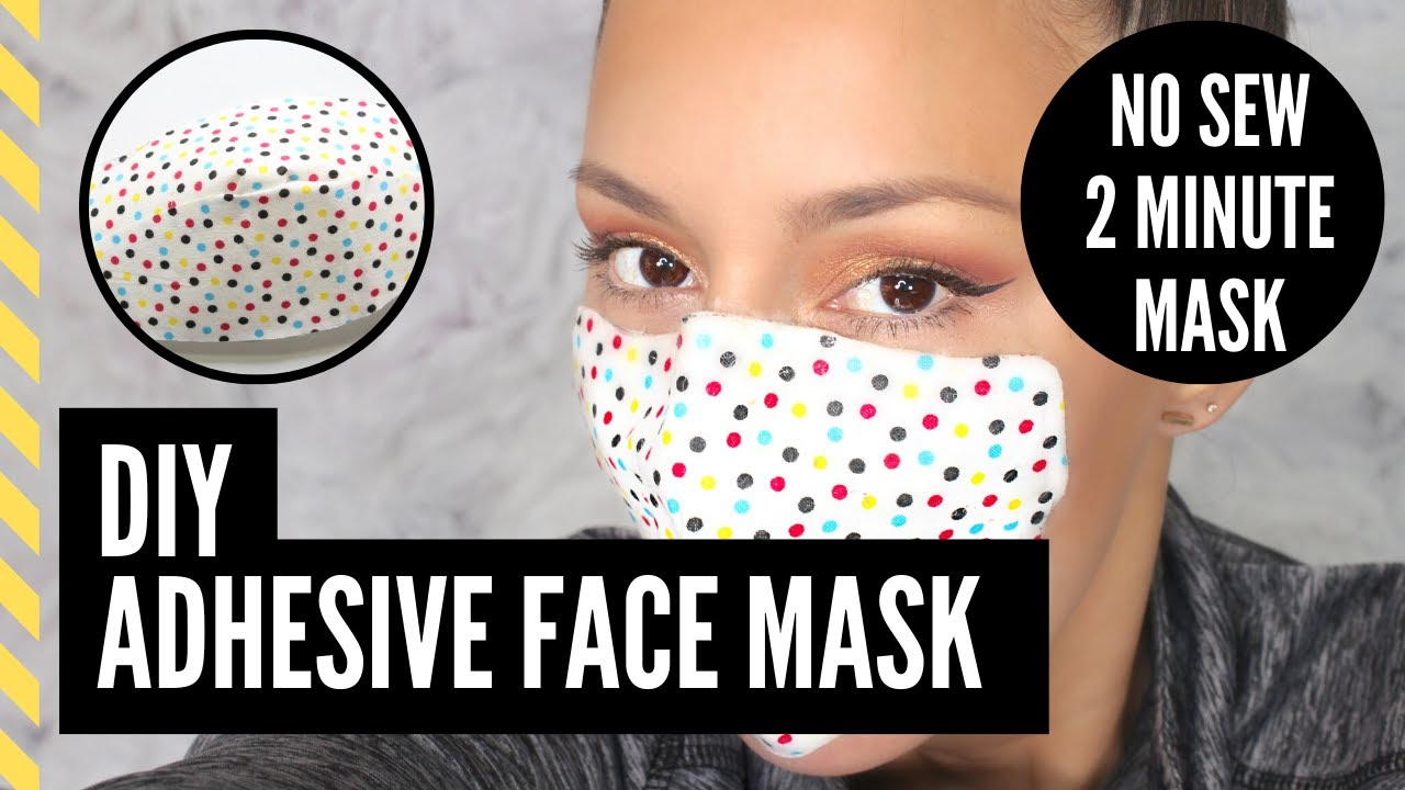 DIY Face Mask | Adhesive No Sew| Coronavirus | Covid-19