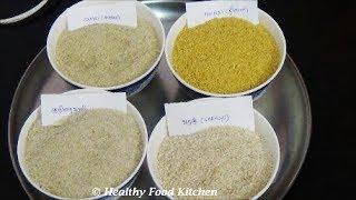 How to differentiate between Kodo Millet(Varagu),Little Millet(Samai),Foxtail Millet , Kuthiraivali