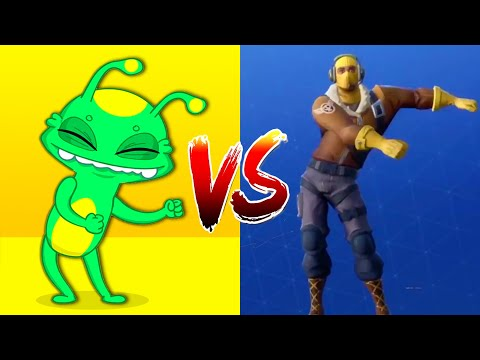 Fortnite All Dances In Real Life Challenge - Fortnite Battle Royale Dance With Groovy The Martian