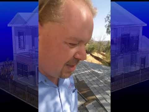 San Fernando Valley Home Inspector on roof