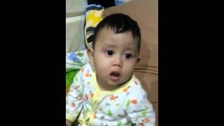 Bayi 9 bln menirukan suara ngorok ayahnya