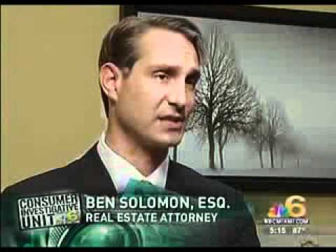Real Estate Attorney Ben Solomon of Association Law Group on NBC Miami