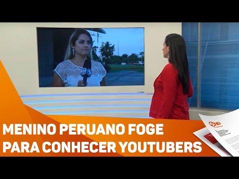 Menino peruano foge para conhecer youtubers em Sorocaba - TV SOROCABA/SBT