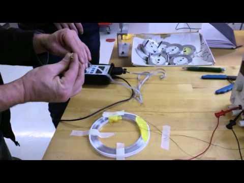 MR Tortional Vibration Damper -- Electromagnet Testing