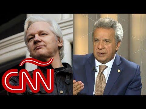 A Julian Assange le conviene entregarse, dice Lenín Moreno en Aristegui