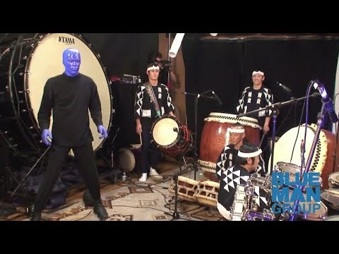Blue Man Group Performs with Kodo Drummers | Exclusive Archival Footage | Behind-the-Scenes