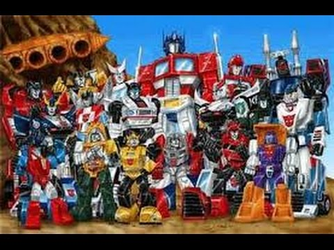 transformers all opening themes (1984-2001) - YouTube