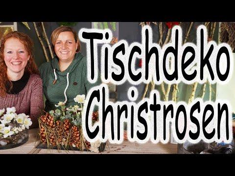 DIY: Tischdeko mit Christrosen in der Weihnachtszeit und im Winter | Weihnachtsdeko | Floristik24
