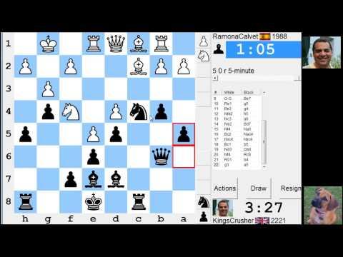 LIVE Blitz #2411 (Speed) Chess Game: Black vs RamonaCalvet in Sicilian: Alapin's variation (2.c3)