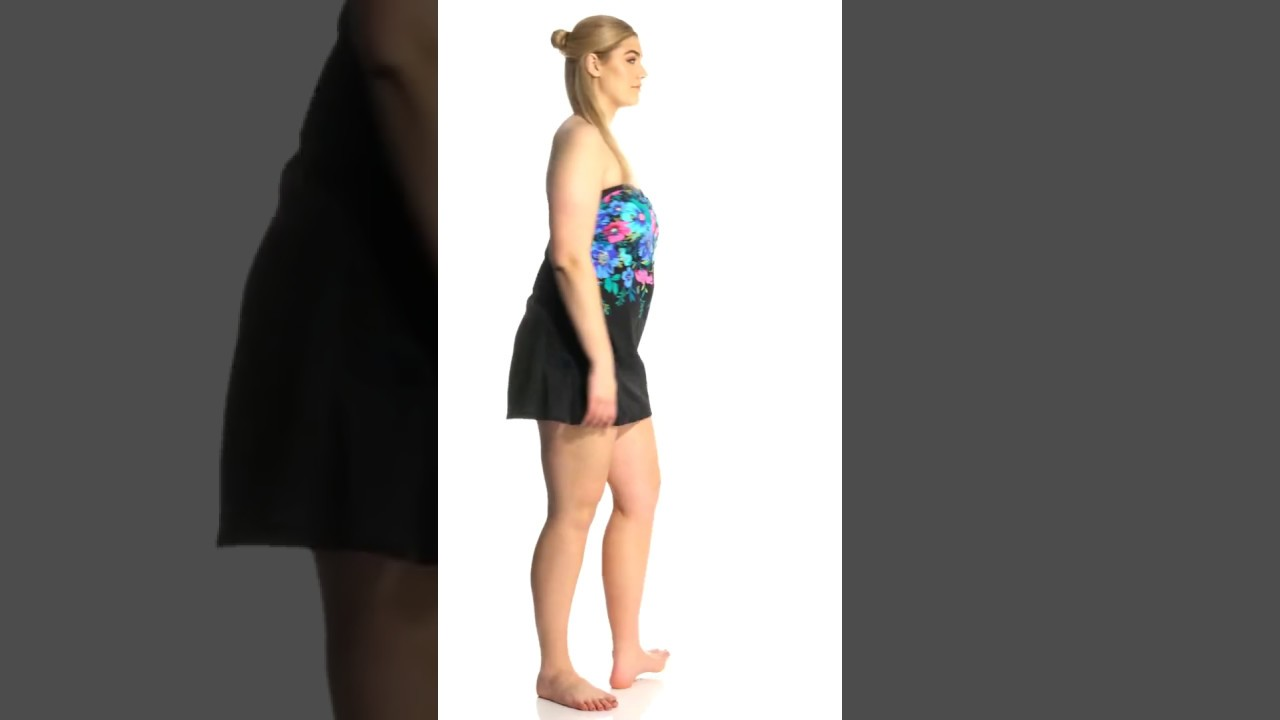 b0adf3edd29 Maxine Plus Size Forget Me Not Retro Swimdress