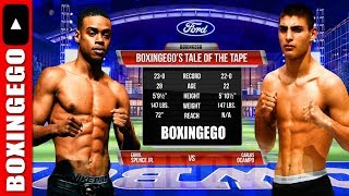 ERROL SPENCE JR. VS CARLOS OCAMPO (MANDATORY) Tale Of The Tape (BOXINGEGO FIRST LOOK)