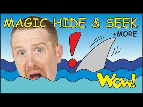 Magic Hide and Seek + MORE Funny Short Stories for Kids from Steve and Maggie   Wow English TV