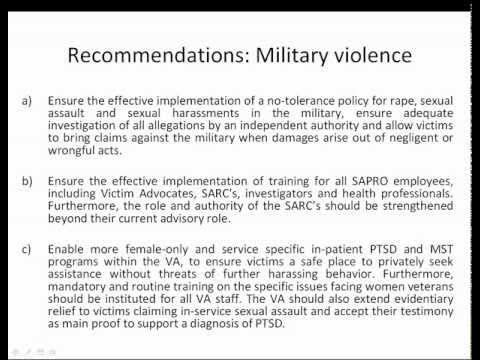 UN Special Rapporteur On Violence Against Women 10/11/2011