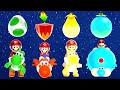 Super Mario Galaxy 2 - All Yoshi Power-Ups
