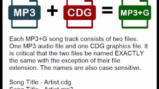 Karaoke CD+G and MP3+G Explained
