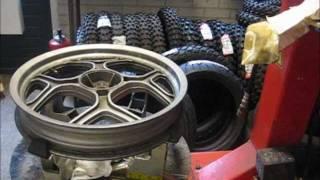 BMW K75 replace rear tyre