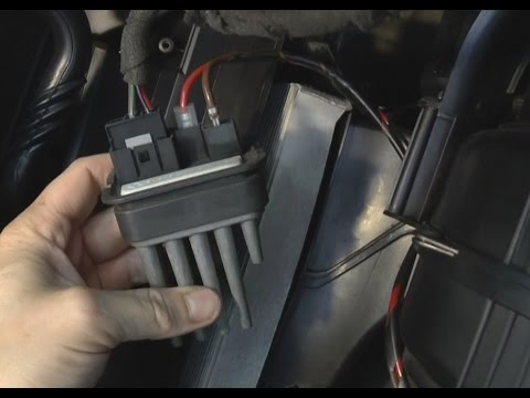 How To Replace Heater Blower Fan Resistor Opel Vauxhall