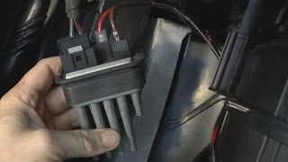 How to replace heater blower/fan resistor - Opel, Vauxhall, Zafira, Astra