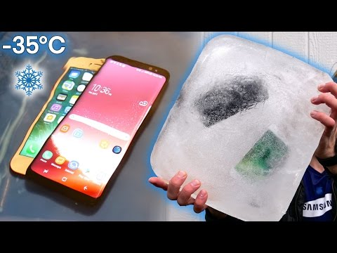 Samsung Galaxy S8 Freeze Test vs iPhone 7 - Can It Survive -35°C?