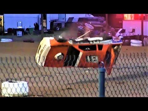 6-9-18 Factory Stock Double Rollover Merritt Speedway
