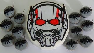 how to make ant man cake and cupcakes ants