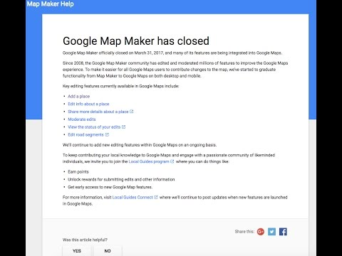 The Google Map Maker Has Been Closed On March 31st , 2017