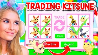 TRADING *NEW* KITSUNE PET ONLY In Adopt Me! (Roblox)