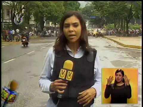 Reporteros de Noticiero Venevisión se han visto afectados en la cobertura de calles