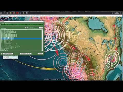 10/12/2019 -- Global Earthquake Activity -- California fires next to quake locations - 동영상