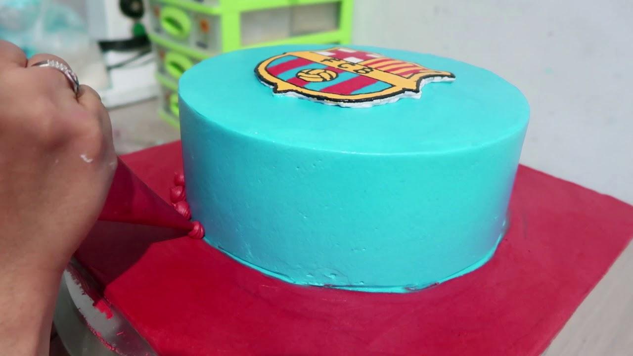 Decorating Cake Birthday Simple Fcb Barcelona