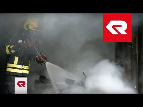 Extinguishing fire with high-pressure - Rosenbauer