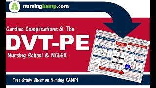 What Is A Cardiac Dvt Deep Vein Thrombosis Nursing Kamp Nclex 2019