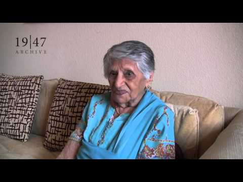 Mrs. Chehnani remembers Partition and her migration from Sindh.