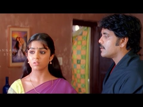 Charmi Hides Nagarjuna From Gangsters || Mass Movie || Nagarjuna, Jyothika